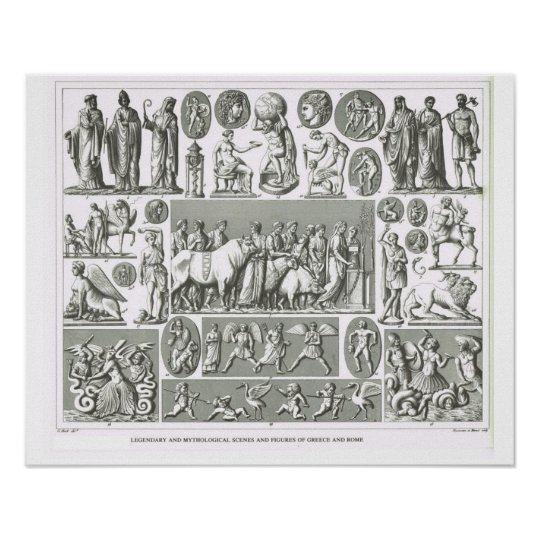 Religious  figures of Greece and Rome Poster