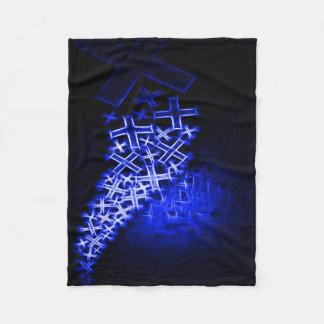Religious Fractal Blue Fleece Blanket