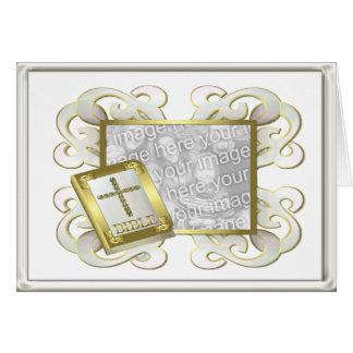 Religious Frame White Card