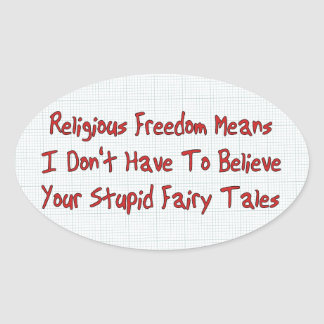 Religious Freedom Oval Sticker