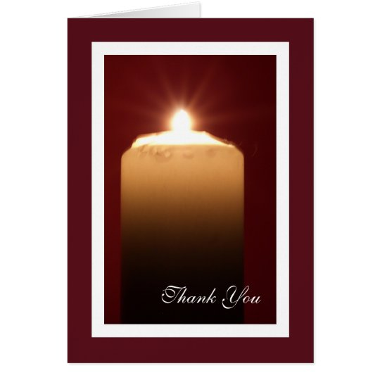 Religious Funeral Thank You Card - Candle