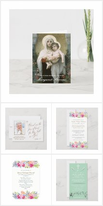 Religious Funeral Thank You Cards