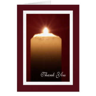 Religious Funeral Thank You Note Card - Candle