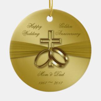50th Wedding Anniversary Christmas Ornament