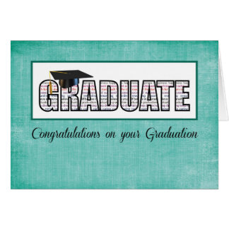 Religious Graduate in Words Congratulations on Tea Card