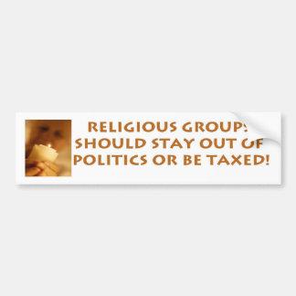 Religious Groups Car Bumper Sticker