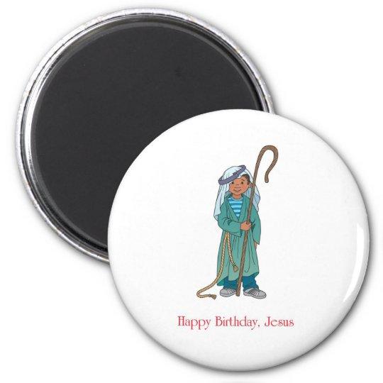 RELIGIOUS: Happy Birthday Jesus Shepherd Magnet