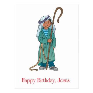 RELIGIOUS: Happy Birthday Jesus Shepherd Post Card
