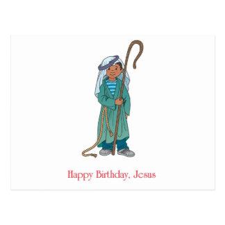 RELIGIOUS: Happy Birthday Jesus Shepherd Postcard
