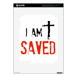 Religious I Am Saved Skins For iPad 3