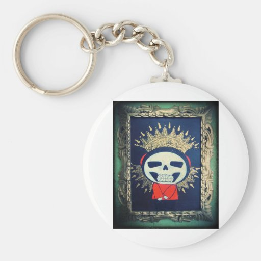 Religious Icon Orthodox Cartoon Painting Keychain