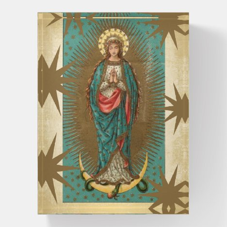 Religious Lady of Guadalupe Spanish Virgin Mary Paperweight