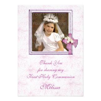 Religious Lavender Floral Invite