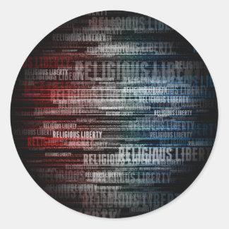 Religious Liberty Classic Round Sticker