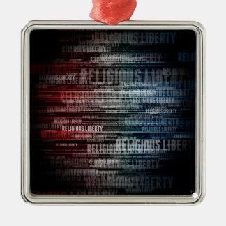 Religious Liberty Metal Ornament