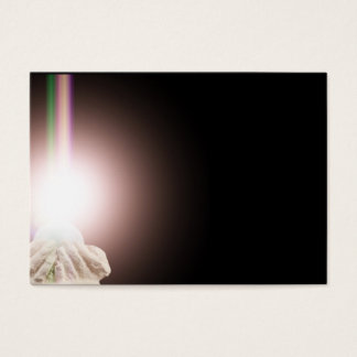 Religious light in cupped hands business card