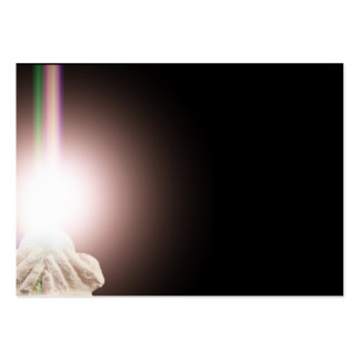Religious light in cupped hands large business card