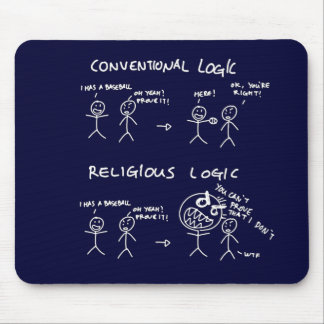 Religious Logic Mouse Pad