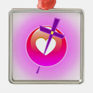 Religious Love. Metal Ornament