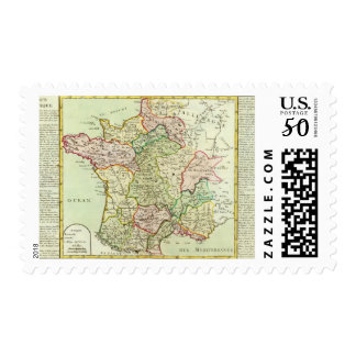 Religious map of France Postage