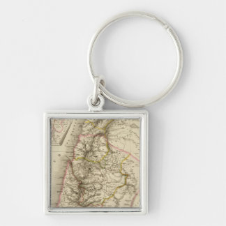 Religious Middle East atlas map Keychains