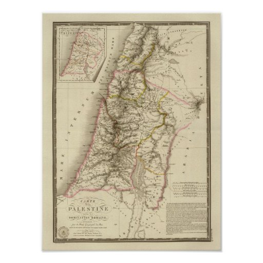 Religious Middle East atlas map Poster