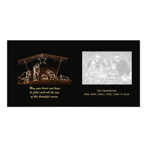 Religious Nativity Christmas Photo Card