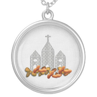 Religious Nuts Round Pendant Necklace