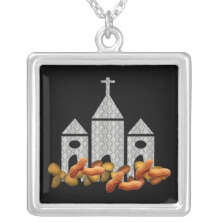 Religious Nuts Square Pendant Necklace