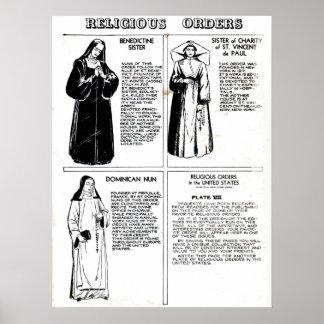 Religious Orders Benedictine Nuns Poster