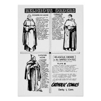 Religious Orders Dominican Monks Poster