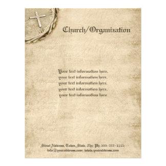 Religious Organization Aged Cross Letterhead