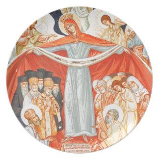 Religious painting melamine plate