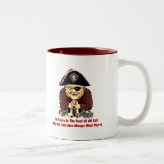 Religious Pirate Two-Tone Coffee Mug