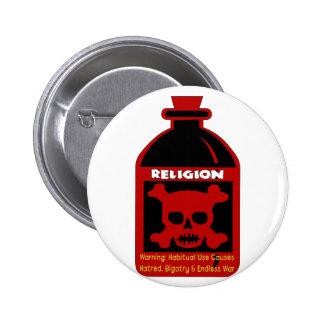 Religious Poison Pinback Button