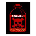 Religious Poison Postcard