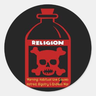 Religious Poison Classic Round Sticker