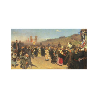 Religious Procession in Kursk Province Canvas Print