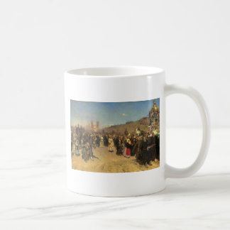 Religious Procession in Kursk Province Coffee Mug