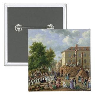 Religious Procession to Mont Valerien, 1819 Button
