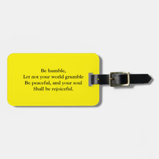 Religious quote bag tag