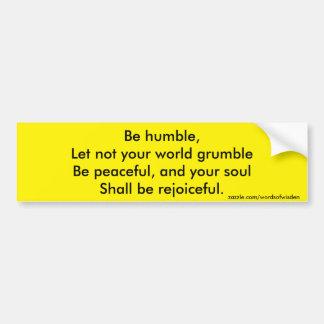 Religious quote car bumper sticker