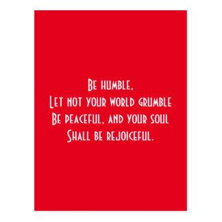 Religious quote postcard