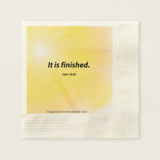 Religious Quotes Coined Cocktail Napkin