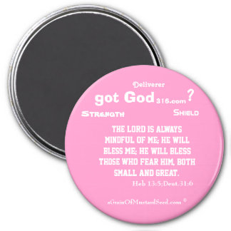 Religious Quotes Inspirationals 3 Inch Round Magnet