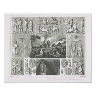 Religious scenes and symbols, ancient near east poster