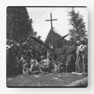 Religious services_War Image Square Wall Clock
