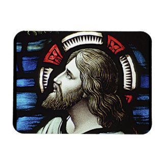 RELIGIOUS STAIN GLASS MAGNET DESIGN