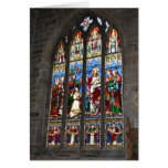 Religious Stained Glass Window Card