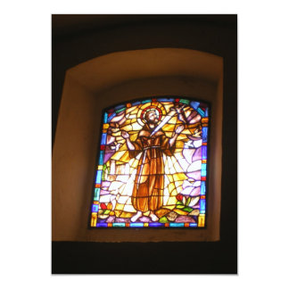 """Religious Stained Glass Window Invitation 5"""" X 7"""" Invitation Card"""